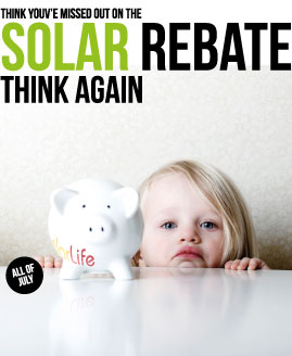 solar rebate advert